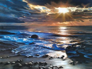 Andre Kazarian Artwork sunset, 2016 Oil Painting, Seascape