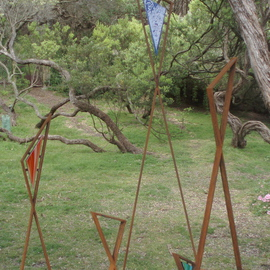 Andrew Kasper Artwork Tribe, 2009 Steel Sculpture, Abstract