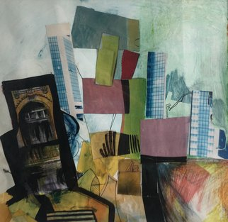 Irina Andreea Gherghel: 'town', 2005 Mixed Media, Abstract Landscape.