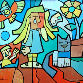 Marcos Andruchak: 'Sentimento', 2004 Acrylic Painting, Figurative. Artist Description: RomaU$ 1500...