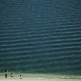 Four people on Beach