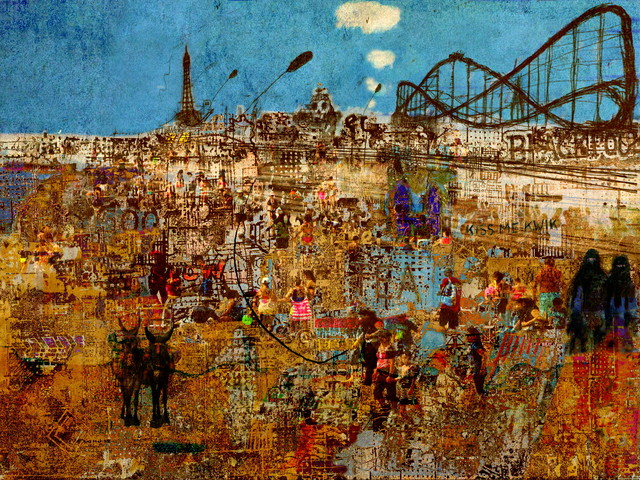 Andrew Mercer  'Day Trip To Blackpool', created in 2018, Original Digital Print.