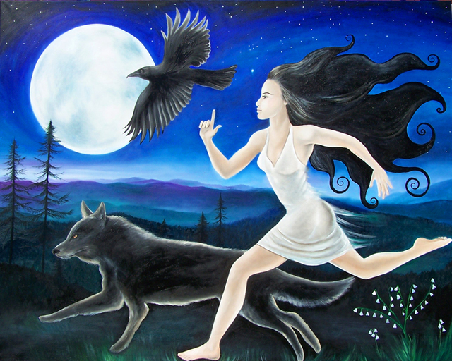 Angela Ferreira  'Running Free', created in 2009, Original Painting Oil.