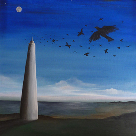 Angela Ferreira Artwork The Fleeing, 2011 Oil Painting, Landscape
