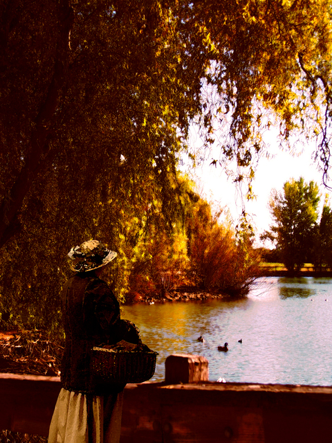 Artist Angela Holmes. 'One Afternoon In Autumn' Artwork Image, Created in 2011, Original Photography Color. #art #artist