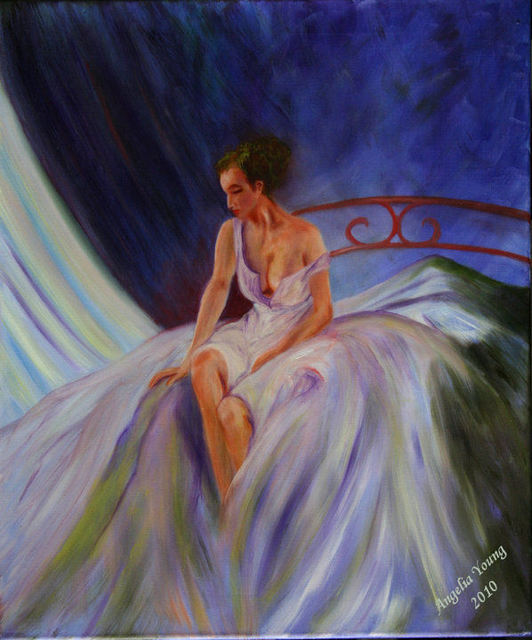 Angelia Young  'My Day', created in 2010, Original Painting Oil.