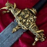DARK LEGACY Sword SCULPTED GOLD 22k By Angel Piangelo Papangelou