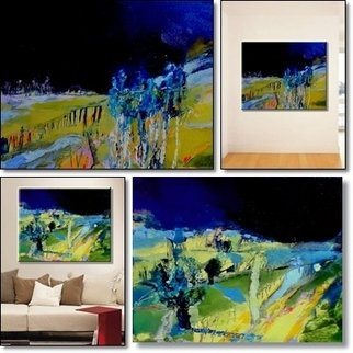 Artist: Anna Zygmunt  - Title: VILLAGE 1 and VILLAGE 2 , 2013,Oil on canvas - Medium: Oil Painting - Year: 2013