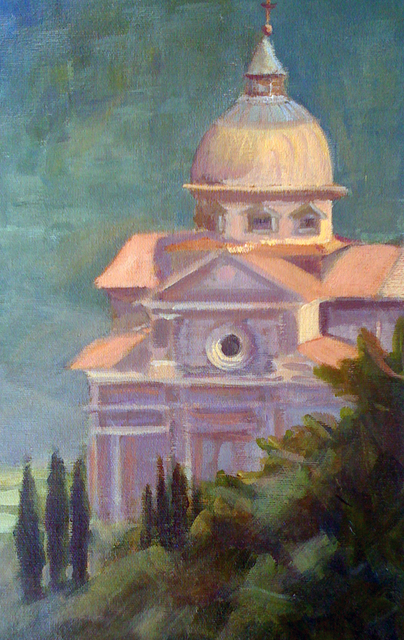 Kirah Van Sickle  'Cortona View', created in 2010, Original Painting Acrylic.