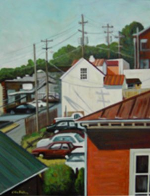 Kirah Van Sickle Artwork View From the Third Floor, 1999 Acrylic Painting, Urban