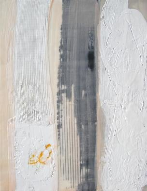 Antoaneta Hillman Artwork Black and white conversation 2, 2012 Encaustic Painting, Abstract