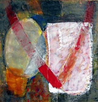 Antoaneta Hillman Artwork Different, 2011 Encaustic Painting, Abstract