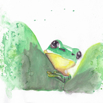 curious frog By Ana Neto