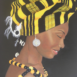 Ana Maria Garcia Ruiz: 'Sonrisa Africana', 2011 Oil Painting, Figurative. Artist Description:   Oil painting on canvas 40x30 cm, 2011, african woman for colletion women of the world. Africa.  ...