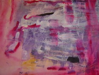 Mia Wordsworth: 'Pink Door', 2007 Other Painting, Abstract.  Lyrical, evocative, dynamic, painted on floor in true abstract expressionist manner. Very powerful and vibrant piece. ...