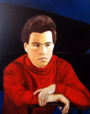 Shoshana Kertesz: 'Evgeny Kissin', 2009 Oil Painting, Famous People.  Portrait of the great pianist Kissin ...
