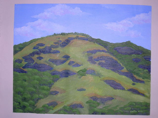 Artist Anji Worton. 'Black Rock Mountain' Artwork Image, Created in 2007, Original Ceramics Handbuilt. #art #artist