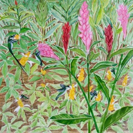 Hummingbirds Haven By Anji Worton