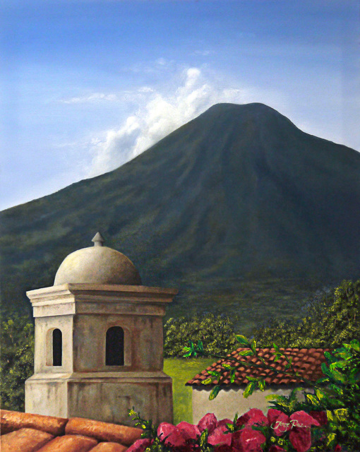 Artist Jorge Paz. 'Antigua Guatemala' Artwork Image, Created in 2019, Original Painting Oil. #art #artist