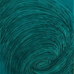 Teal Whirlpool By Andrea Mulcahy