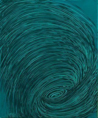 Andrea Mulcahy: 'Teal Whirlpool', 2013 Oil Painting, undecided.