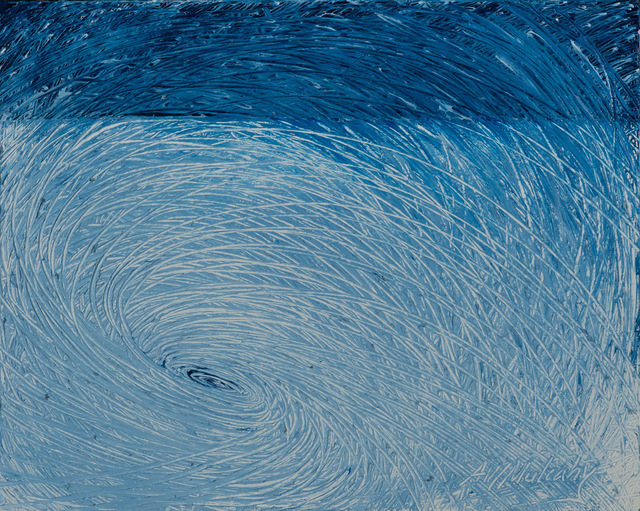 Andrea Mulcahy  'Whirlpool In White', created in 2013, Original Painting Oil.