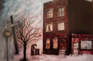Anna-marie Lopez: 'Christmas In NYC', 1998 Acrylic Painting, Cityscape. I enjoyed living in NYC no matter how grey and alone I felt...