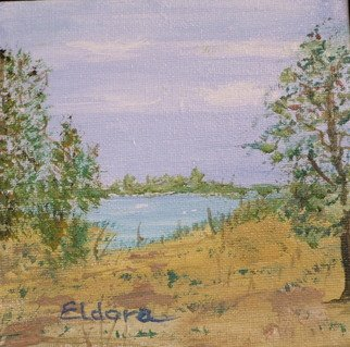 Landscape Acrylic Painting by Anna Peterson Title: Three Trees, created in 2008