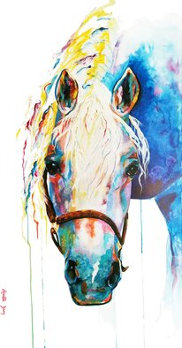 Annette Broy: 'peace', 2021 Acrylic Painting, . Beautiful horse representing Peace.  Peace is one of 3 in a series. ...