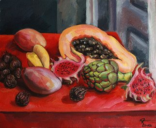 Anna Reztsova Artwork still life with artishok, 2014 Oil Painting, Still Life