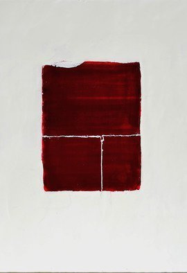 Antoaneta Hillman: 'red attracrtion', 2017 Encaustic Painting, Communication.