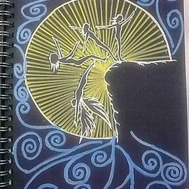 Anuradha Chandran Menon: 'Leap of Faith', 2010 Ink Painting, Spiritual. Artist Description:  Artwork is inspired by Faith, Angels and Light. ...
