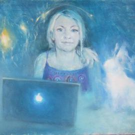 Eugene Krotov: 'Evanna', 2013 Oil Painting, Portrait. Artist Description:     a collective image of what I feel, what I can see in the photos and what I seem to see in the movie  ...