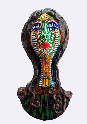 Agnieszka Parys Kozak Artwork The Tribal Shaman, 2005 Ceramic Sculpture, Mask