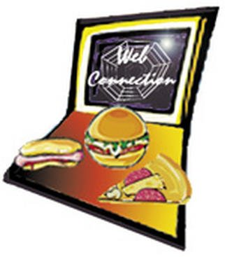 Alice Pickler: 'The Web Connection', 2001 Graphic Design, Computer. Artist Description: Logo for Cyber Restaurant/ Bar...