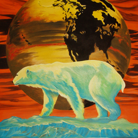 Barely Global Warming  By Environmental Artist Apollo