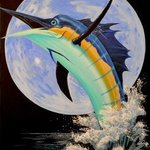 Blue Marlin Moon, Environmental Artist Apollo