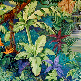 Environmental Artist Apollo: 'Hiking Thru Hana', 2001 Acrylic Painting, Fish. Artist Description: