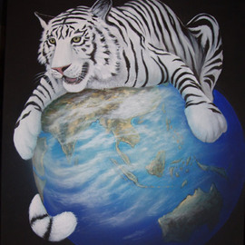 Environmental Artist Apollo Artwork Protecting the Planet, 2010 Acrylic Painting, Conceptual