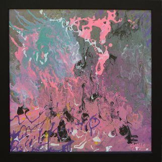 Environmental Artist Apollo: 'pretty in pink', 2018 Acrylic Painting, Abstract. Artist Description:  Pretty in Pink  is an abstract by the Artist Apollo- Sometimes apollo likes to just let loose and see what happens...