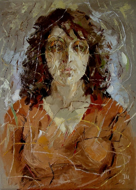 Ara Ghevondyan  'Portrait Of A Woman', created in 2009, Original Painting Oil.