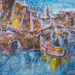 amsterdam in evening By Ariadna De Raadt