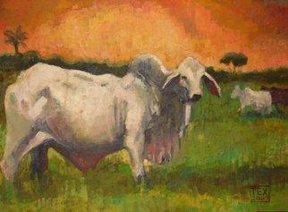 Samuel Eliu Artwork Cebu, 2009 Oil Painting, Animals