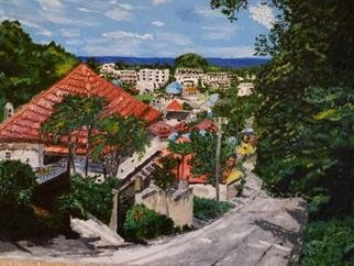 Paul Pole: 'road on the island of phuket', 2018 Other Painting, Beauty.