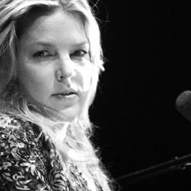 Luciano Armando Arcangeli: 'diana krall', 2019 Black and White Photograph, Music. Artist Description: Diana Krall, live in Ghent, suddenly she took one second deep in my camera lens. . .  Limited edition only one sample.  Printed on Aluminium Dibond with glossy protector.  Expedition worldwide from Belgium.  ...