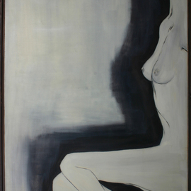 Archna Jaideep Singh: 'A Tribute to Man Ray', 1995 Oil Painting, Nudes. Artist Description:  This painting is my tribute to the photograph taken by the famous photographer Man Ray. The composition comprises oil paints on canvas....