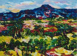 Mary Hatch: 'New Mexico Vista', 2016 Acrylic Painting, Landscape. Artist Description: Part of the New Mexico Series. Painting of the Taos, New Mexico area. Brilliant colors, inspired by the mountains in the area. ...