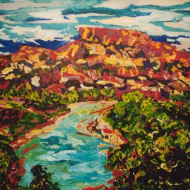 Mary Hatch Artwork North New Mexico VI, 2008 Acrylic Painting, Landscape