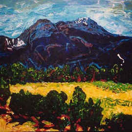 Mary Hatch Artwork Taos Mountain, 2008 Acrylic Painting, Landscape