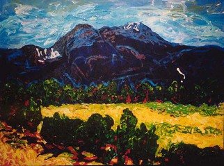 Mary Hatch: 'Taos Mountain', 2008 Acrylic Painting, Landscape. Artist Description:  Acrylic Painting, View of Taos Mountain, on the North Side of town. ...